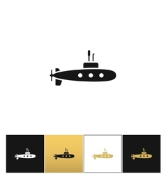 Deep water submarine icon vector image
