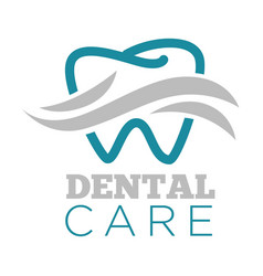 dental care dentist service isolated icon tooth vector image