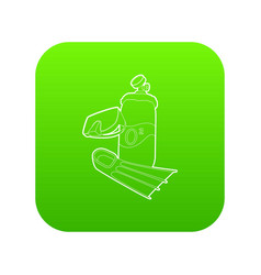 diving icon green vector image