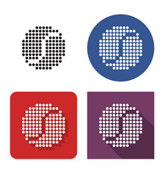 Dotted icon tennis ball in four variants vector