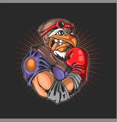Eagle head boxing sport vector