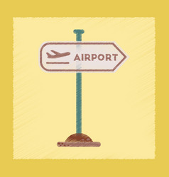 Flat shading style icon airport sign vector