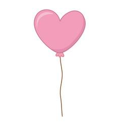 Floating heart shaped balloon vector