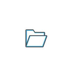 folder icon design essential icon vector image