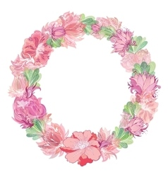 Gentle Floral Wreath vector image