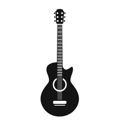 Guitar icon simple style vector
