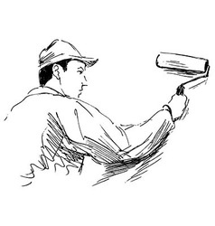 Hand sketch decorator vector image