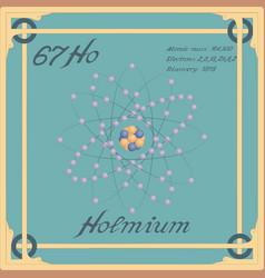Holmium colorful icon vector