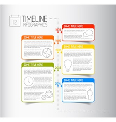 Infographic timeline report template with vector