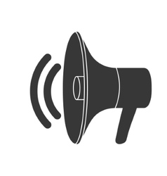 Isolated megaphone design vector