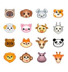 Kawaii animals vector image