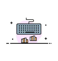 Keyboard interface type typing business logo vector