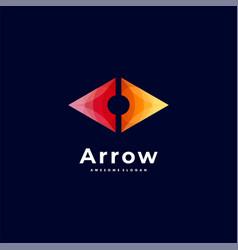 logo arrow gradient colorful style vector image