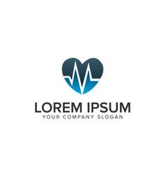 love medicine logo design concept template vector image
