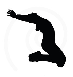 man silhouette isolated on white background vector image