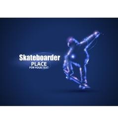 Motion design Skateboarder jump on skateboard vector image