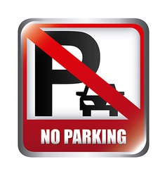 no parking design vector image