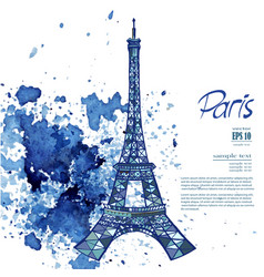 Paris eiffel tower vector
