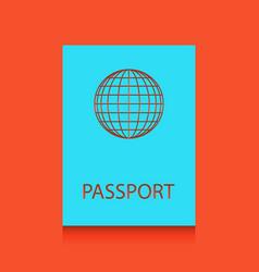 Passport sign whitish icon vector