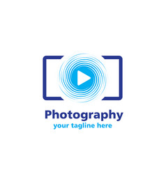 Photography business logo vector