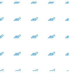 Plan icon pattern seamless white background vector