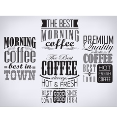 Poster lettering take coffee vector image