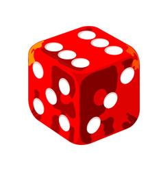 Red casino dice vector