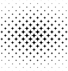 Seamless curved star pattern vector image
