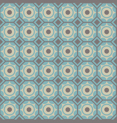 seamless geometric pattern in blue and brown vector image