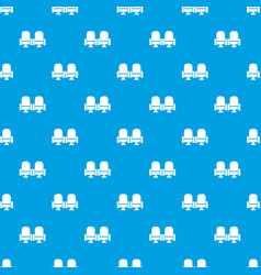 seat theater pattern seamless blue vector image