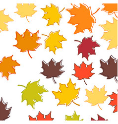 set four backgrounds with leaves and twigs vector image