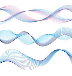 set of different graphic of the waves vector image