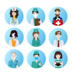 set of medical icons depicting different vector image