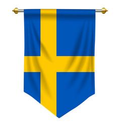 Sweden pennant vector