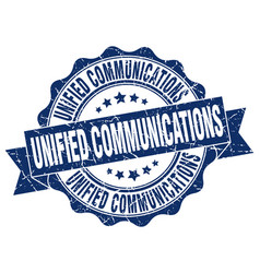 Unified communications stamp sign seal vector
