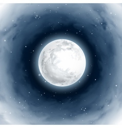 Vortex of Clouds Around the Full Moon Mystical vector