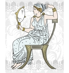 Ancient Greek woman vector image vector image