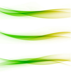 bright colorful abstract transparent swoosh line vector image