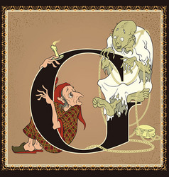 children book cartoon fairytale alphabet letter g vector image vector image