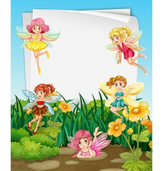 Fairies and sign vector image vector image
