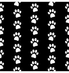 Paw symbol seamless pattern vector image
