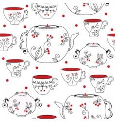 tea pots vector image