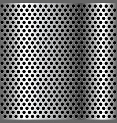 chrome grid metal background vector image vector image