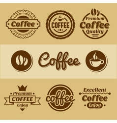 Coffee labels and badges Retro style coffee vector image