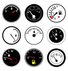 Fuel guages vector image vector image
