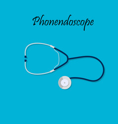 medical stethoscope or phonendoscope vector image