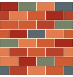 Red Orange Green Brick Wall vector image