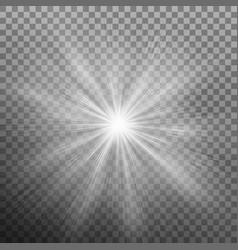 white burst glowing light explosion effect eps 10 vector image