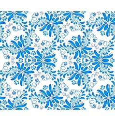 Blue floral seamless pattern in Russian gzhel vector image vector image