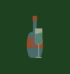 Champagne champagne bottle vector